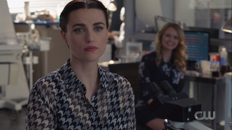 Lena looks off into middle distance