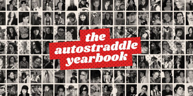 the autostraddle yearbook - grid of faces past