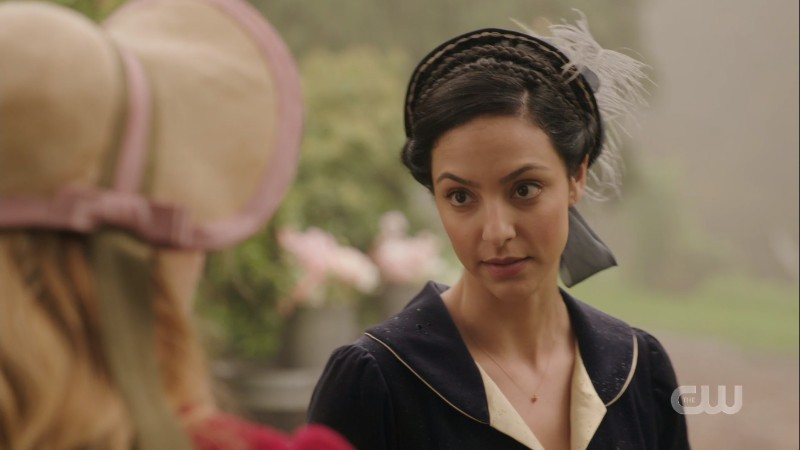 Zari gives Sara a stern look
