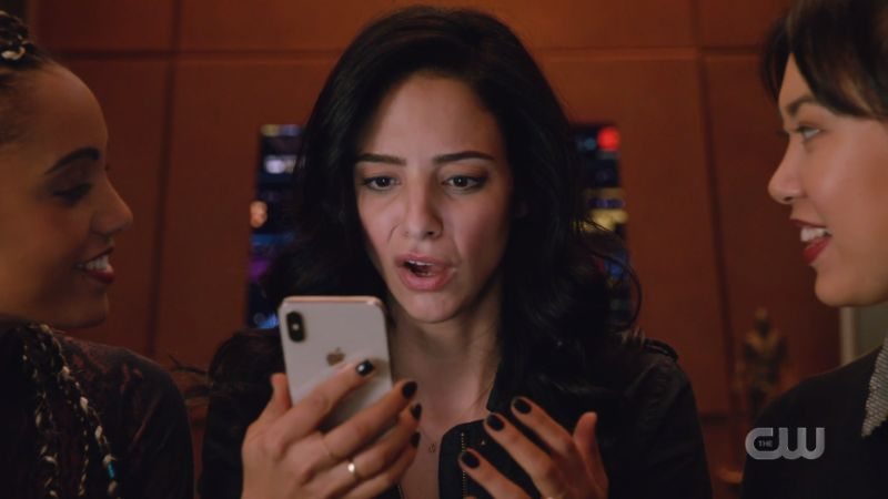 Zari looks horrified at her phone