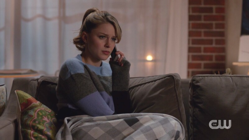 Kara and her 50s pony sit on the couch on the phone hence my hilarious Bye Bye Birdie joke caption