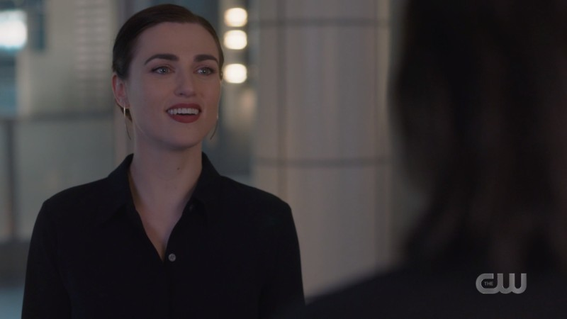 Lena smiles in relief