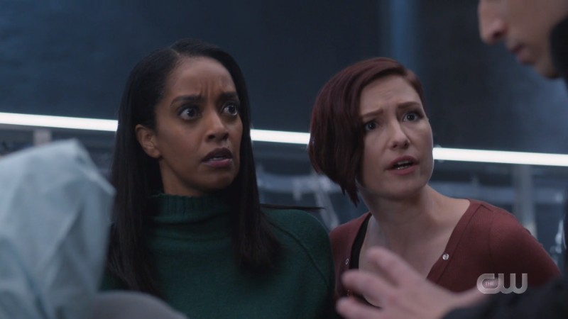 Kara and Alex look shocked
