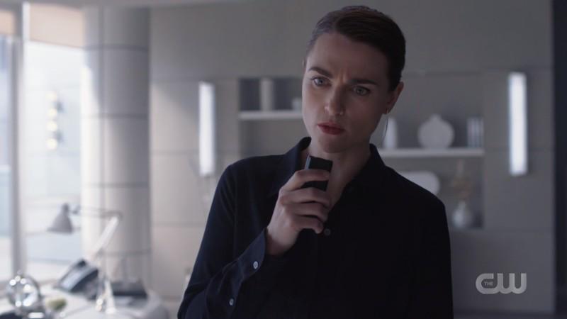 Lena talks into her science recorder
