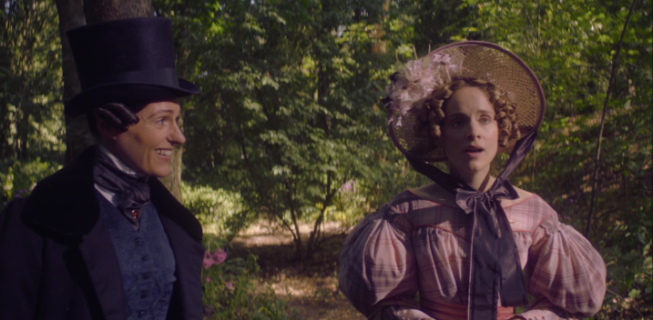 Anne Lister and Ann Walker walking in the woods