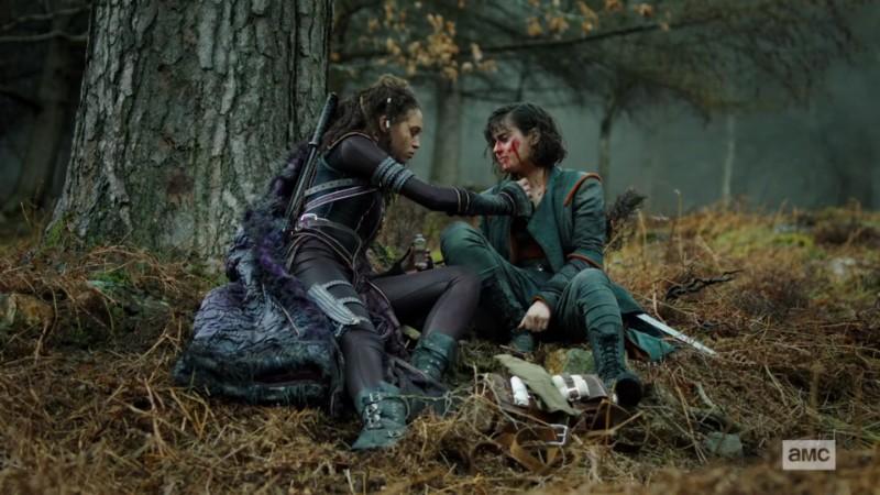 Nix tends to Tilda's wounds