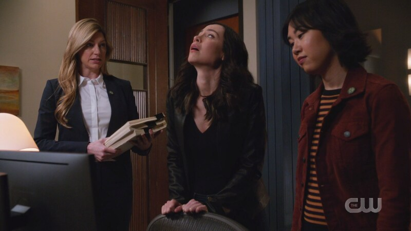 Ava, Nora and Mona are in Nora's new office, Nora looks stressed