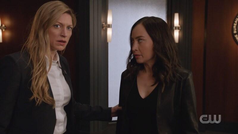 Ava touches Nora's arm