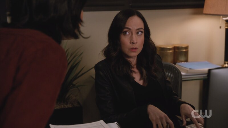 Nora looks nervous and generally against Mona's plan