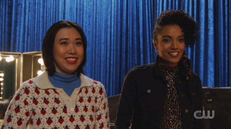 Mona and Charlie smile