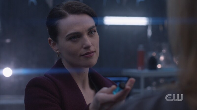 Lena hands over the antidote with a smirk