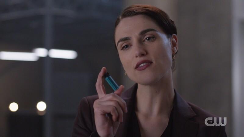 Lena holding antidote
