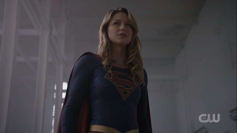 Supergirl stands proudly against her foe