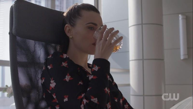 lena drinks in her office