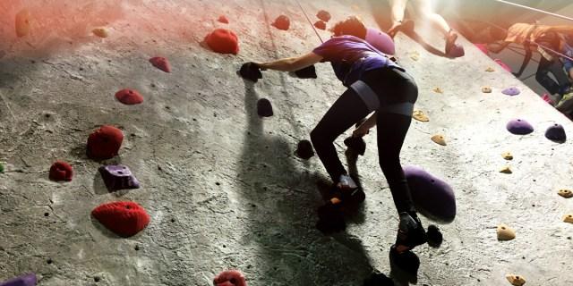 carrie wade climbing wall