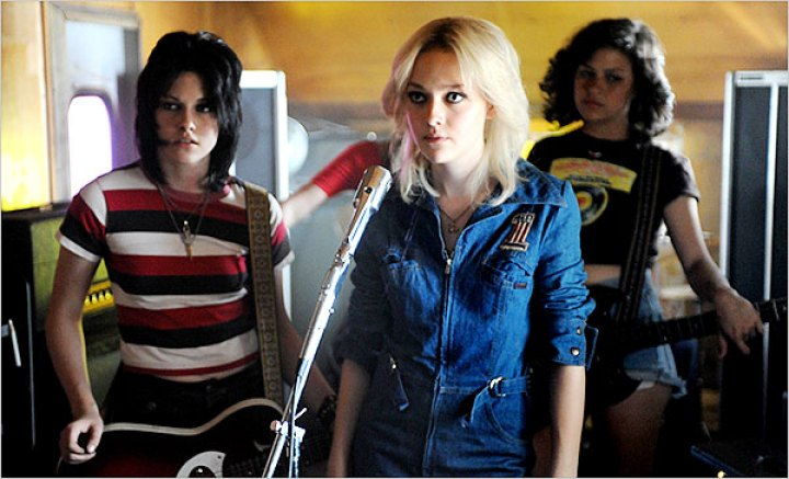 still from The Runaways of Joan Jett and her band