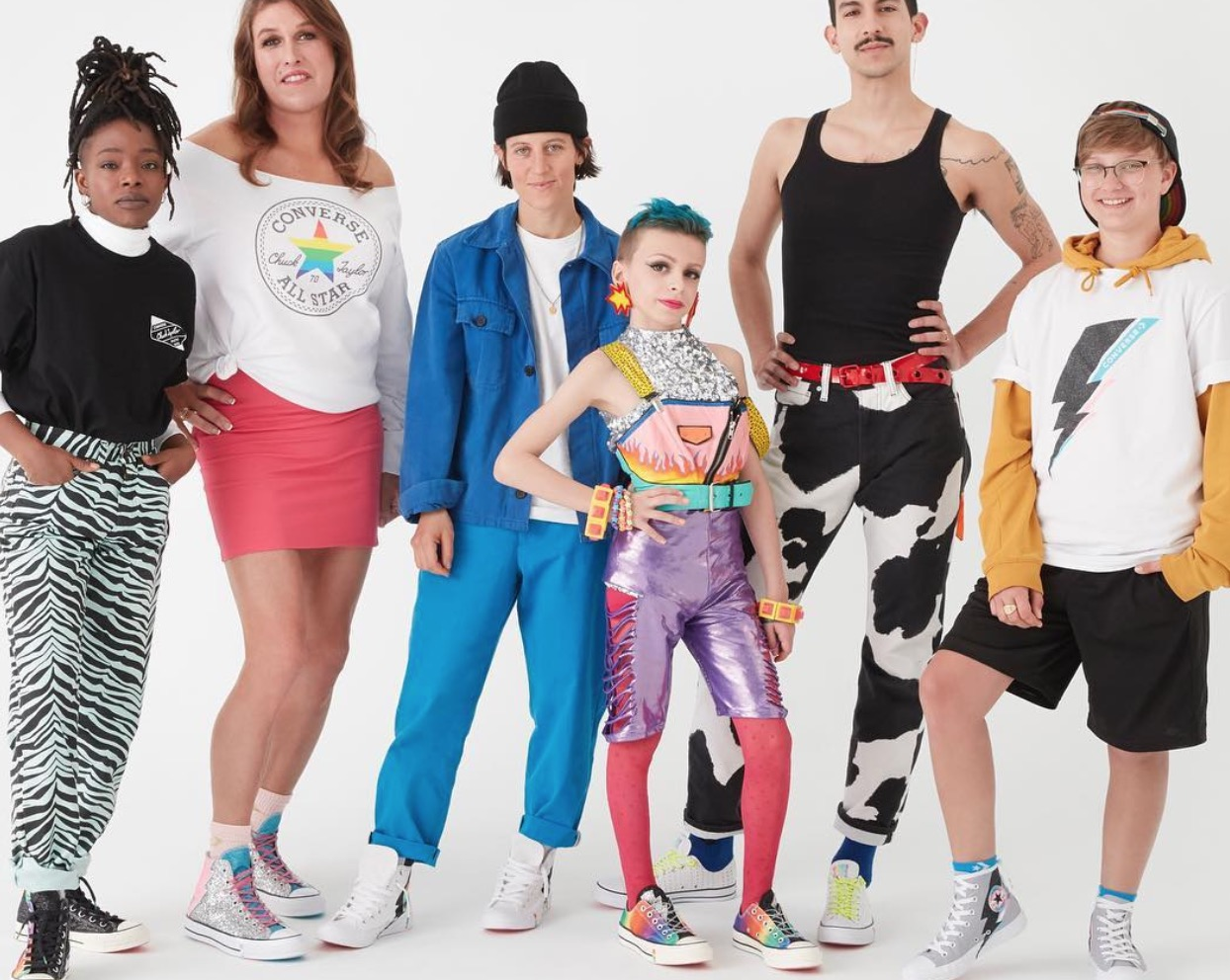 """d6fd4924362 Converse partnered with six very cool individuals connected to the LGBTQ+  community who """"show the power in expressing one's true self,"""" like """"drag  kid"""" ..."""