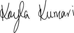 Kayla's signature