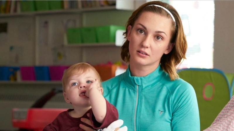 kat barrell as her harried mom character