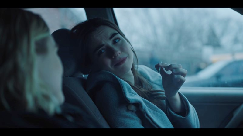 jenna smiles sadly at henry while holding a joint