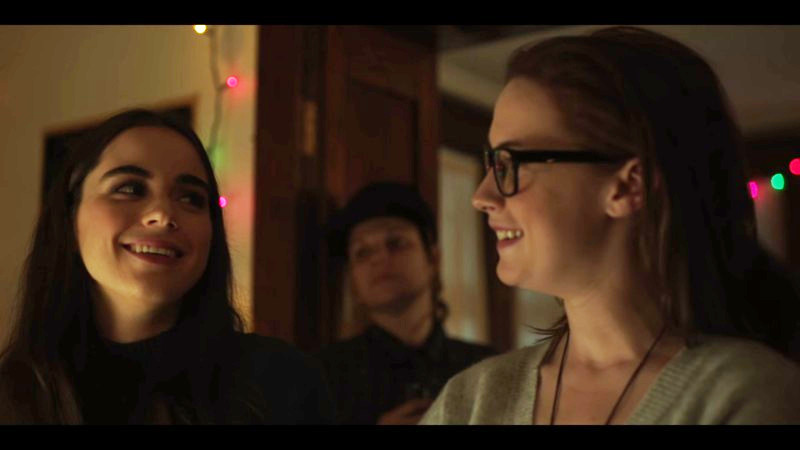 jenna and kate smile at each other