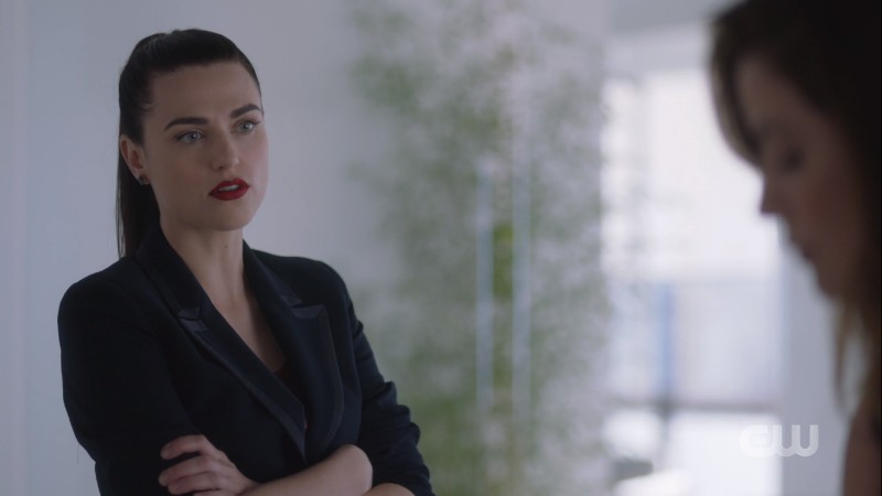 Lena crosses her arms at Andrea