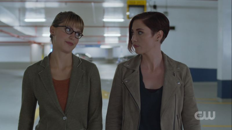 Alex and Kara exchange glances
