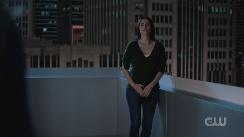 Lena is wearing jeans
