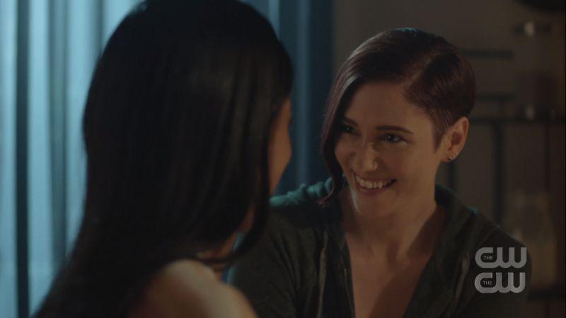 alex smiles at kelly