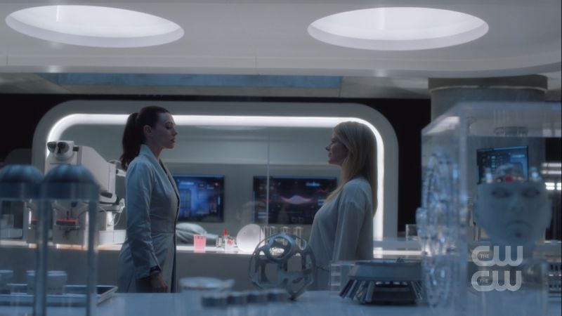 Lena checks out Hope's new body