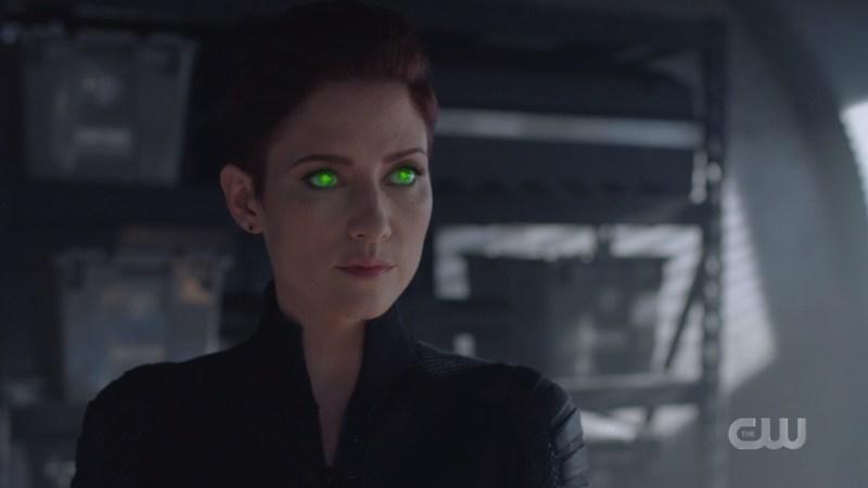 alex's eyes glow green