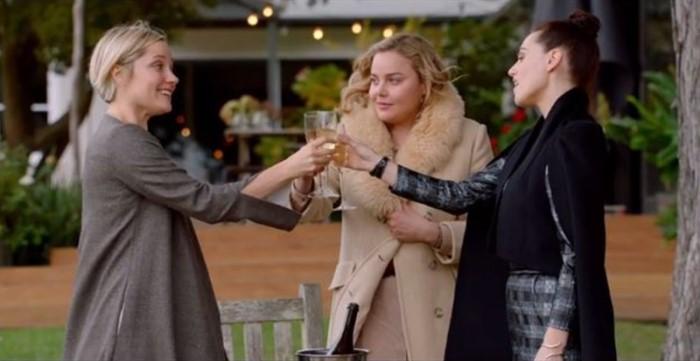 Olivia Melanie and Saskia toast