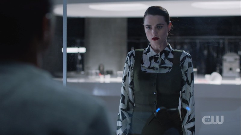 lena is wearing a button down and a vest and a skirt i dunno it feels like overkill but i like it