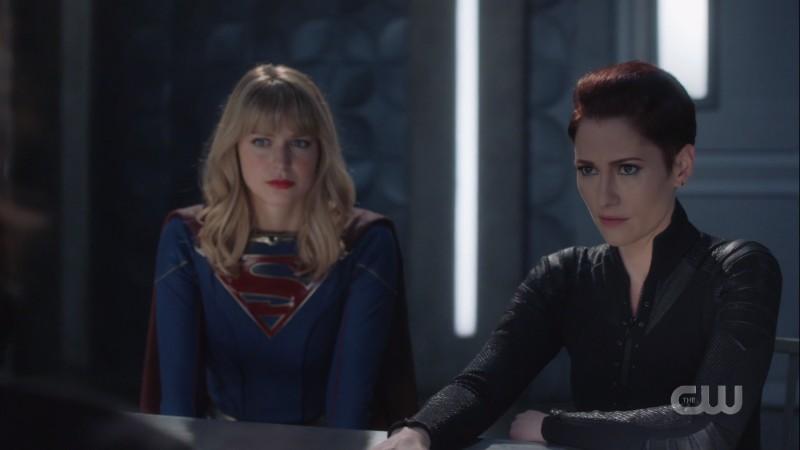 Kara and Alex interrogate brainy