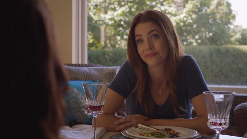 Andrea leers back at Lena