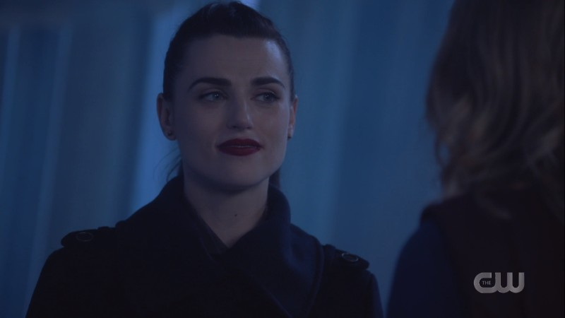 Lena smiles coldly at Kara