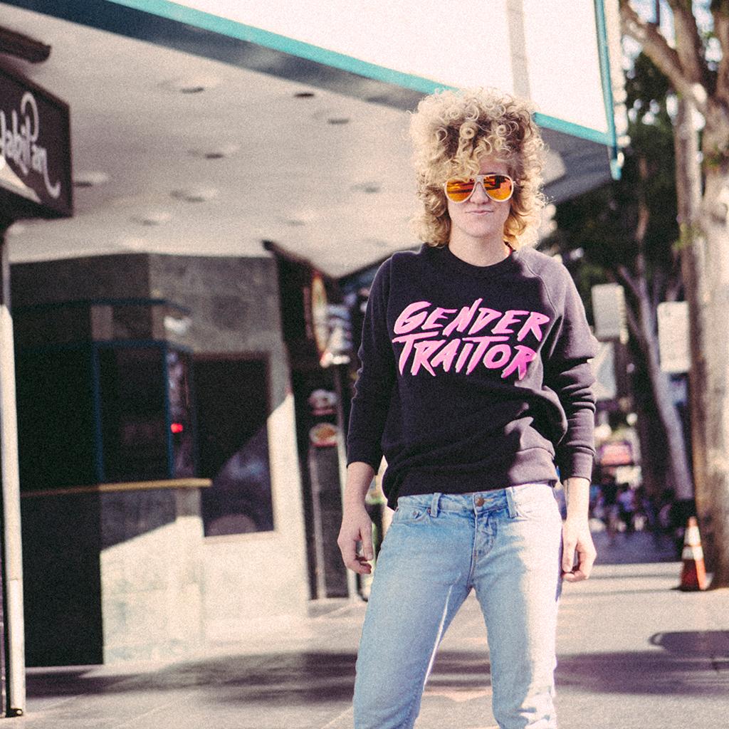 autostraddle merch gender traitor sweatshirts