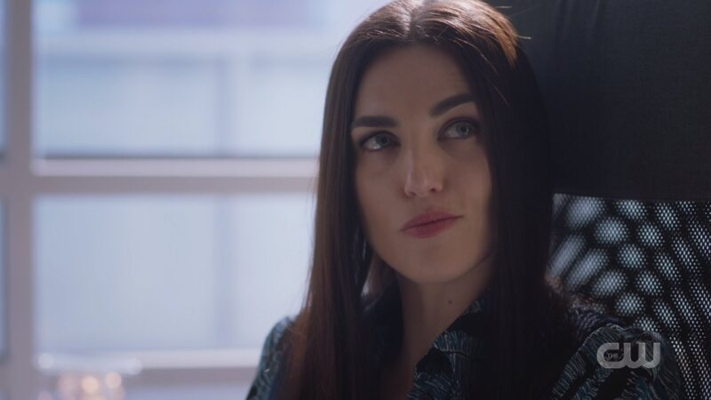 Lena smirks at Alex