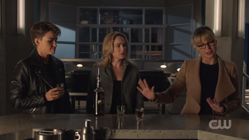 kate, sara, and kara at a bar(a)