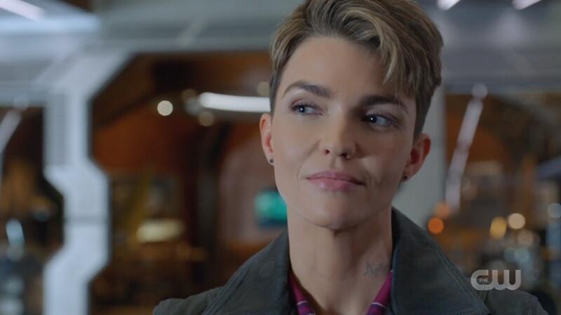 Kate Kane smirks