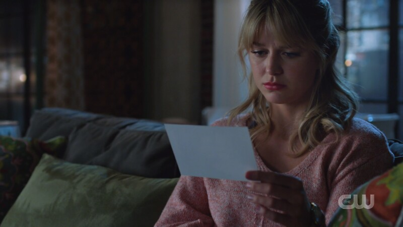 Kara looks longingly at the picture of Lena