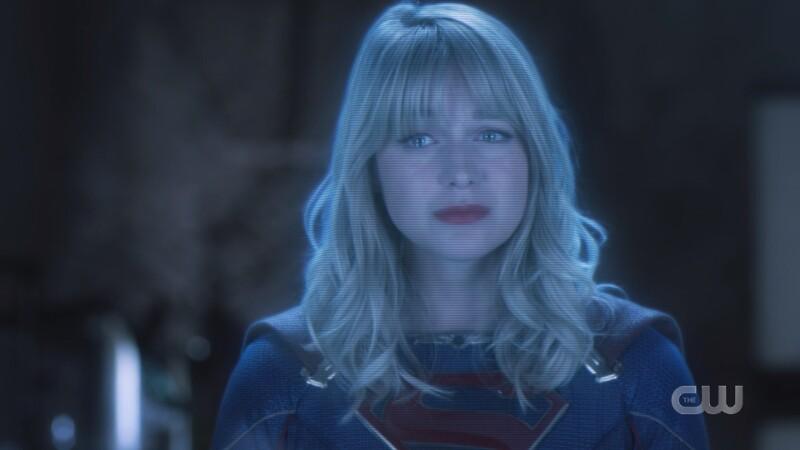Kara apologizes via hologram through teary eyes