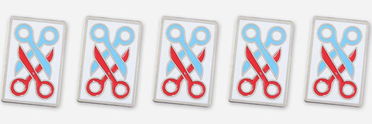 autostraddle merch scissor pin
