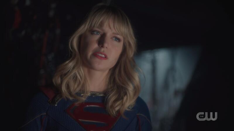 Kara glares at Lex