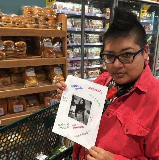 kamala holding chani nicholas photo at grocery store