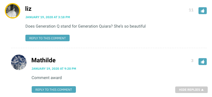 Does Generation Q stand for Generation Quiara? She's so beautiful