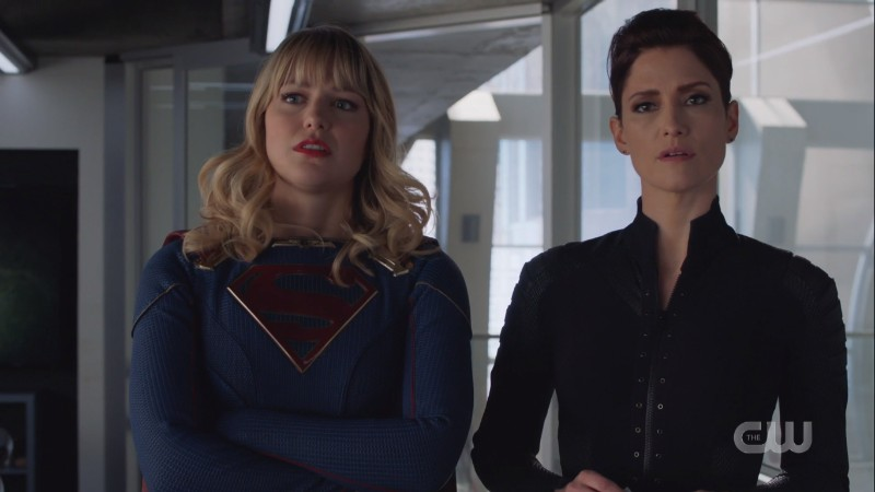 Supergirl and Alex look OVER IT