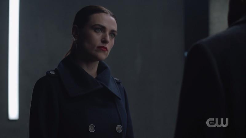 lena in dark serious clothing