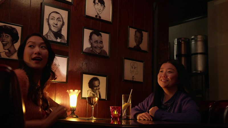 Alice and her ex, Sumi, hang out at the comedy club.
