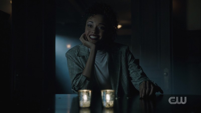 Astra smiles at John